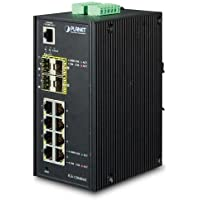 IGS-12040MT Industrial 8-Port 10/100/1000T + 4-Port 100/1000X SFP Managed Switch (-40~75 Degrees C)