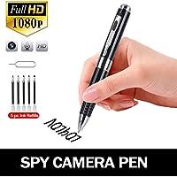 Hidden Spy Camera Pen BIBENE FHD 1080P Portable Mini Video & Photo Recorder, Loop Recording Plug and Play,Roller Ball Pen with Free 5 Black Refills