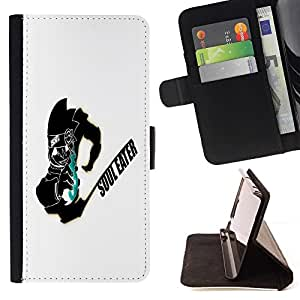 For HTC DESIRE 816 Soul Eater Style PU Leather Case Wallet Flip Stand Flap Closure Cover
