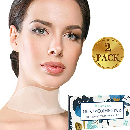 Silicone Neck Wrinkle Pad IMPROVED - Set of 2 Silicone Care Patches for Neck Wrinkles Treatment and Prevention - Reusable Anti Wrinkle Remover for Collette ()