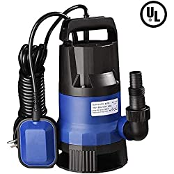 Yescom 1HP 3432GPH 750W Submersible Dirty Clean Water Pump Swimming Pool Pond Flood Drain Heavy Duty Water Transfer