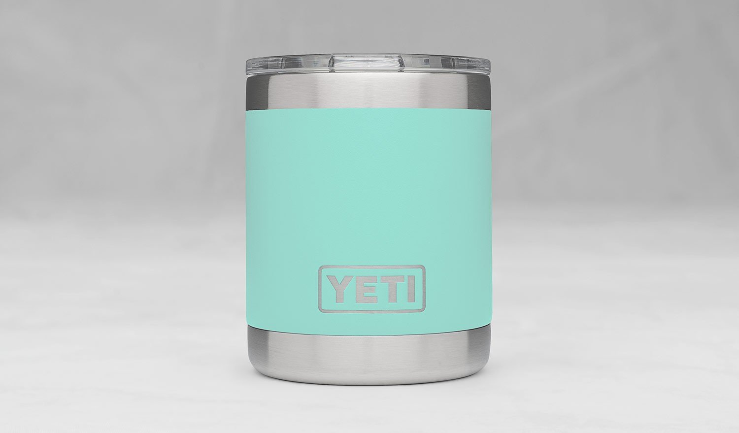 YETI Rambler 10oz Vacuum Insulated Stainless Steel Lowball with Lid, Seafoam DuraCoat by YETI (Image #3)