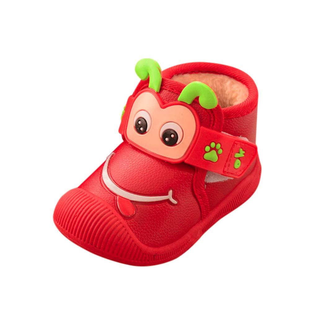 ❤️ Botas de Agua para niña, Niños Recién Nacidos Dibujos Animados Flock Warm Baby Girls Zapatos Zapatillas Botas Absolute