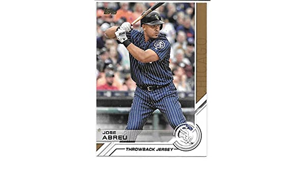 72ea7f91 Jose Abreu 2017 Topps Salute Chicago White Sox Throwback Jersey Insert Card  #S-90 at Amazon's Sports Collectibles Store