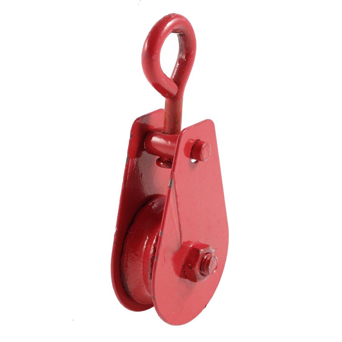Sourcingmap - Rojo 40 mm de diá metro de la polea sola polea cuerda ojo giratorio tackle aparejo 0, 1 ton a13070400ux0083