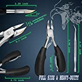 Toenail Clippers for Ingrown Nails - LOCKY 2 Pc