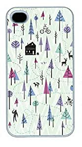 iPhone 5 5S Case, iCustomonline Cute Winter Pattern Back Case Cover for iPhone 5 5S