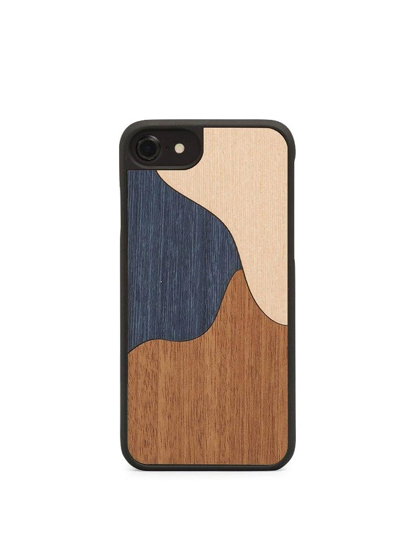 ウッド Wood'd iPhone8 iPhone7 iPhone6 ケース Real wood Snap-on covers ITALY INLAY B074Y5SMFT  INLAY-BLUE