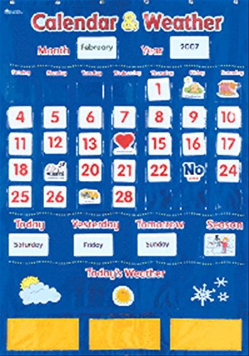 Learning Resources Calendar and Weather Pocket Chart (Preschool Classroom Supplies compare prices)