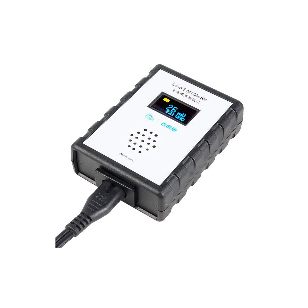 Line EMI Meter OLED Digital Display Mains Noise Tester EMI Measuring Instrument Broadband AC Power Supply Ripple Analyzer