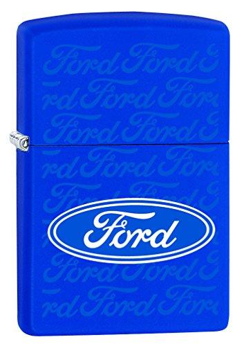 Zippo Lighter: Ford Blue Oval - Royal Blue Matte 78414