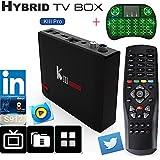 SHENGMO KIII Pro DVB-T2/S2 2G RAM 16G ROM TV Box Android 7.1 4k satellite receiver Amlogic S912 Octa-core 4K 2.4G&5G Wifi BT4.0 k3 pro(Send wireless keyboard)