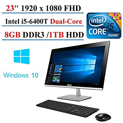 """2017 ASUS 23"""" All-in-One Desktop Touch AIO Intel i5-6400T 2.2GHz 8GB 1TB HDD 1920x1080 Screen Full HD LED-back light Bluetooth Windows 10 (Certified Refurbished)"""