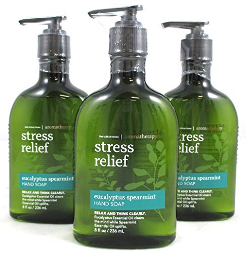 (Lot of 3 Bath And Body Works Original Eucalyptus Spearmint Hand Wash Rounded Body Style 8 Ounces Each)