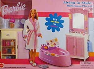 barbie bathroom games living in style bathroom playset toys 10078