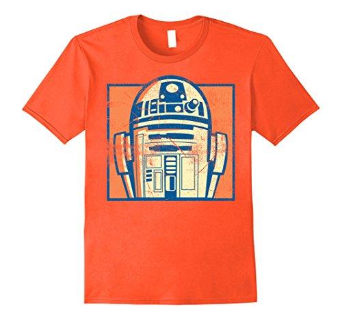 Mens Star Wars R2-D2 Vintage Distressed Retro Cartoon T-Shirt XL (Star Wars Distressed T-shirt)