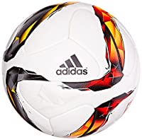 adidas Fußball Torfabrik Offizieller Spielball, White/Solar Red/Black/Solar...