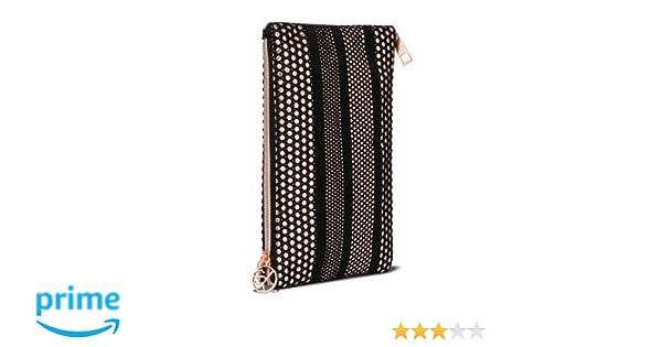 55e565830e7 Amazon.com: Sonia Kashuk - Cosmetic Bag 2-Zip Purse Kit Mesh with Metallic  Black: Beauty