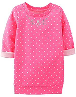 Baby Girls' Foil Print Tunic (Baby) - Pink Dots