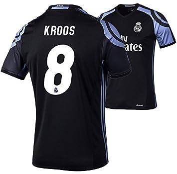 Camiseta infatil del Real Madrid, de adidas, réplica, negra, Kroos 8, 176: Amazon.es: Deportes y aire libre
