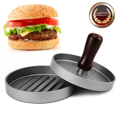 Allezola Burger Press, Hamburger Patty Maker, Non Stick Patty Mold, Hamburger Patty Maker Hamburger Grill BBQ Patty - Ideal for BBQ (Patty Valentine)