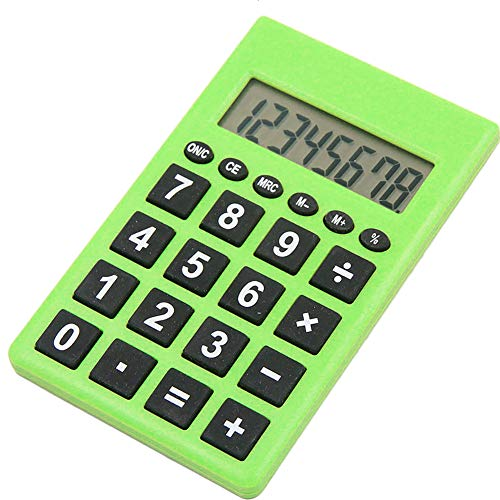 pu ran- 8 Digits Pocket Mini Electronic Calculator School Students Office Stationery Supply Gift Green