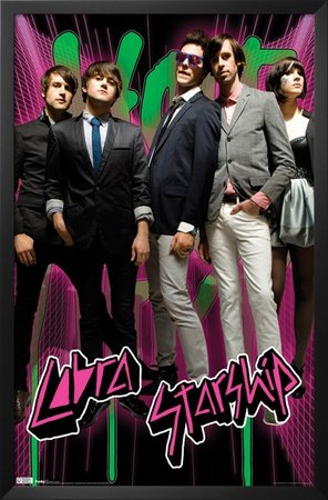 Professionally Framed Cobra Starship (Hot Mess) Music Poster Print - 22x34 with Solid Black Wood Frame