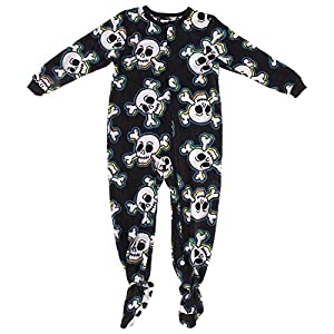 Komar Kids Little Boys' Skull and Crossbones Footed Pajamas