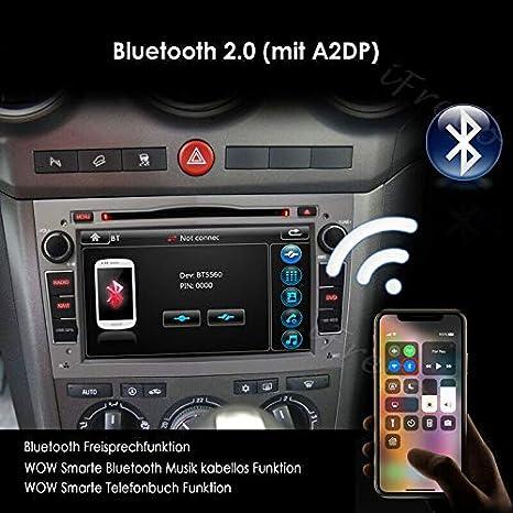 Ifrego Car Radio For Vauxhall Antara Astra Combo Corsa Meriva Vectra Zafira Vivaro 7 Inch 2 Din Touch Screen Gps Navigation Car Radio Dvd Cd Car Radio Bluetooth Windows Ce Car Radio