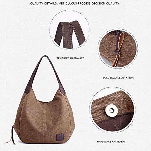 Stylish Lady Simple Bag With Capacity Shoulder Travel Pu Canvas Fashion Large Library Tote For Coffee Beach Look Multifunctional Hobo Handbag Causal Shopping Handle Bucket 4q4OA