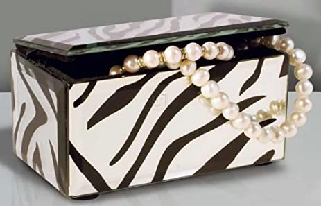 Amazoncom Allure by Jay Mirror Rectangle Jewelry Box Zebra Home