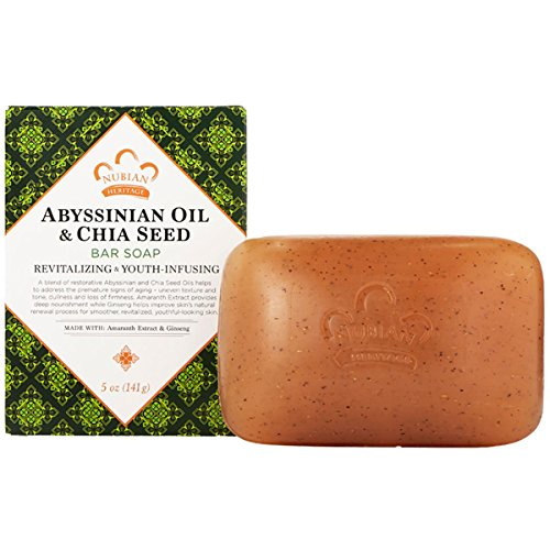 Nubian Heritage Abyssinian & Chia Seed Bar Soap, 5 Ounce