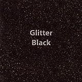 """Siser Glitter Heat Transfer Vinyl 20"""" x 12"""" Sheet (Black)"""