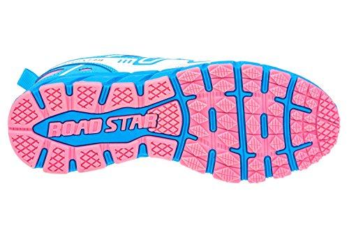gibra - Zapatillas de Material Sintético para mujer azul claro, rosa