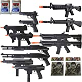 Cheap Dark Ops Airsoft Arsenal – 12 Gun Airsoft Rifle Package + Zombie Targets BBS