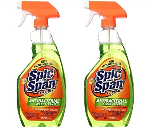 Spic and Span Everyday Antibacterial Spray Cleaner, 22 oz (2 pack)