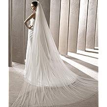 Drasawee Women's 2T Vintage Cathedral Length Soft Tulle Wedding Bridal Veil 300CM