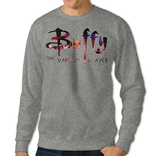 [NUBIA Men's Vampire Buffy Slayer Classic Hoodies Ash L] (Buffy The Vampire Slayer Movie Costume)