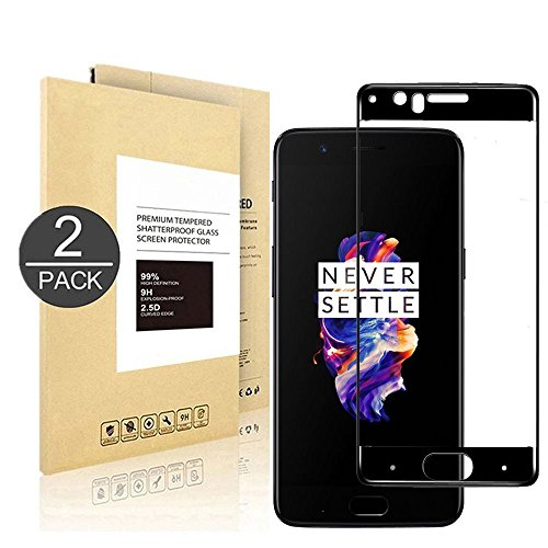 OnePlus 5T Screen Protector, [2 PACK] Tempered Glass Screen Protector