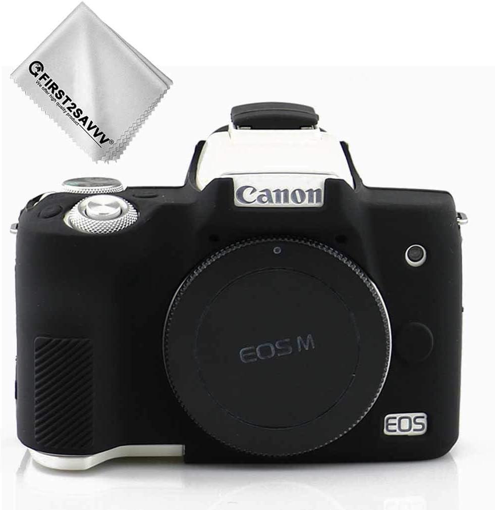 Negro Cuerpo Completo Caucho de TPU Funda Estuche Silicona para cámara para Canon EOS M50 XJPT-EOS M50-GJ-01G11: Amazon.es: Electrónica