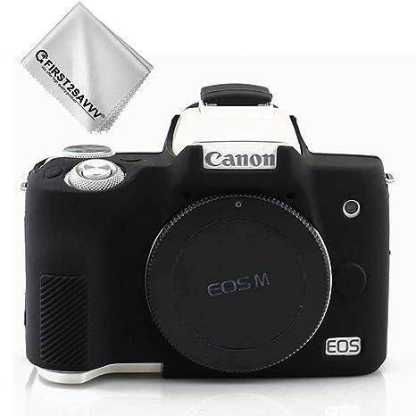 Negro Cuerpo Completo Caucho de TPU Funda Estuche Silicona para cámara para Canon EOS M50 XJPT-EOS M50-GJ-01G11
