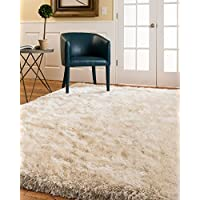 NaturalAreaRugs Milton Shag Rug, Crafted by Artisan Rug Makers, Imported, 5 x 8