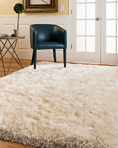 NaturalAreaRugs Milton Shag Rug, Crafted by Artisan Rug Makers, Imported, 5' x 8' by NaturalAreaRugs