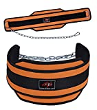 4Fit Weight Lifting Belt, Neoprene Belt Exercise Belt Heavy Chain Belt-Orange For Sale
