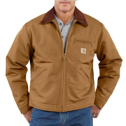 Men's Carhartt Duck Detroit Jacket, BLACK, XLT by Carhartt
