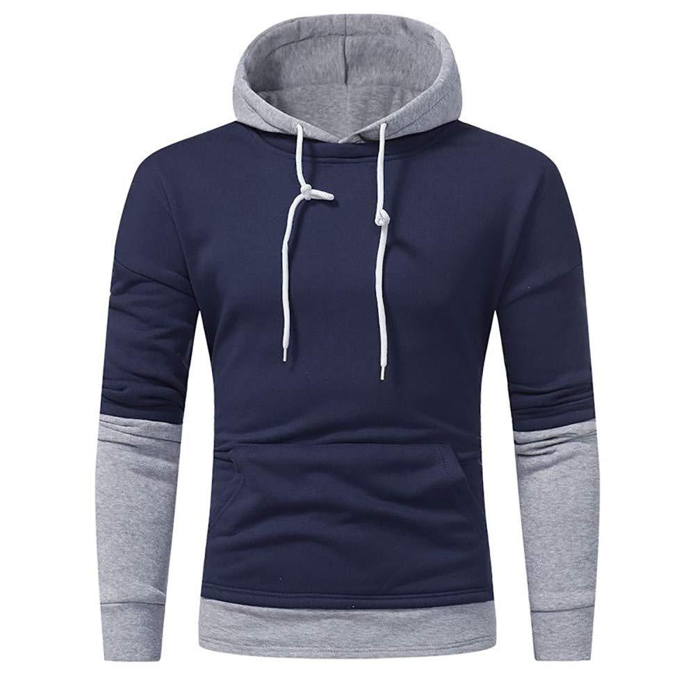 Amazon.com: Sunhusing Mens Autumn Winter Fashion Stitching Sweatshirt Fleece Pullover Warm Jacket Top: Clothing