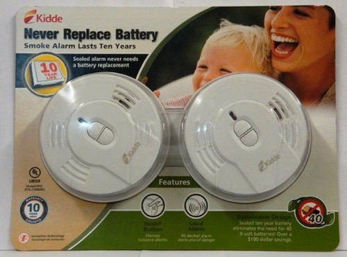 Kidde Longlife Ionization Sensor Smoke Alarm Twin Pack