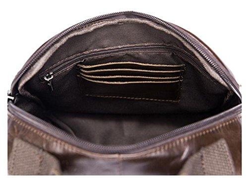 Sucastle 1 20x6x24cm Piccolo Borsa Genuina Cuoio Uomo Spalla In Della Pelle Resistente Zaino E Borse Spalla Sacchetto Torace Al dUxTp1wxq