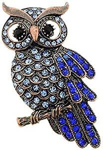 Hosaire Brooch Pin Women's Owl Breastpin Crystal Diamond Broochpin Wedding/Banquet/Bouquet