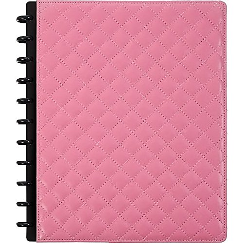 Staples Arc Customizable Patent Quilted Leather Notebook System, Pink, 9-1/2'' x 11-1/2'', Each (24741) by Staples